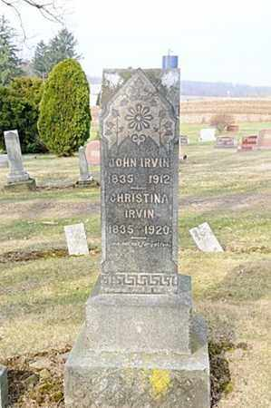IRVIN, JOHN - Morrow County, Ohio | JOHN IRVIN - Ohio Gravestone Photos