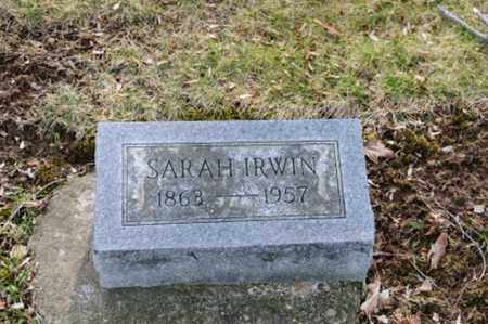 IRWIN, SARAH - Morrow County, Ohio | SARAH IRWIN - Ohio Gravestone Photos