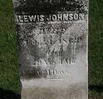 JOHNSON, LEWIS - Morrow County, Ohio | LEWIS JOHNSON - Ohio Gravestone Photos