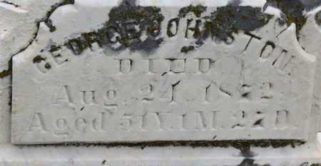 JOHNSTON, GEORGE - Morrow County, Ohio   GEORGE JOHNSTON - Ohio Gravestone Photos
