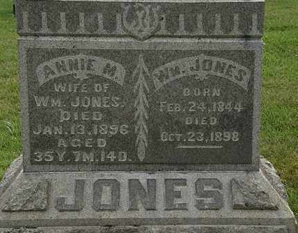 JONES, ANNIE M. - Morrow County, Ohio | ANNIE M. JONES - Ohio Gravestone Photos