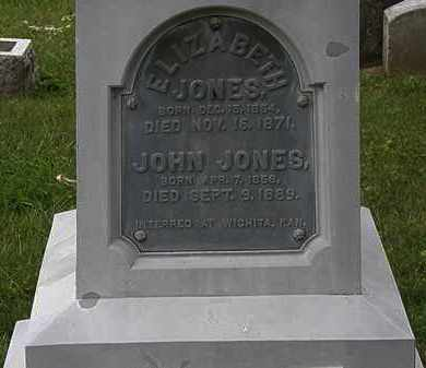 JONES, ELIZABETH - Morrow County, Ohio | ELIZABETH JONES - Ohio Gravestone Photos