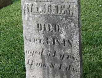JONES, W. - Morrow County, Ohio   W. JONES - Ohio Gravestone Photos