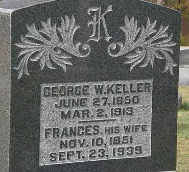 KELLER, FRANCES - Morrow County, Ohio | FRANCES KELLER - Ohio Gravestone Photos