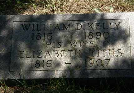 KELLY, WILLIAM D. - Morrow County, Ohio | WILLIAM D. KELLY - Ohio Gravestone Photos