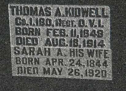 KIDWELL, THOMAS A. - Morrow County, Ohio | THOMAS A. KIDWELL - Ohio Gravestone Photos