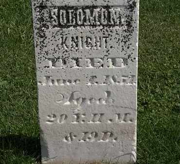 KNIGHT, SOLOMON - Morrow County, Ohio | SOLOMON KNIGHT - Ohio Gravestone Photos