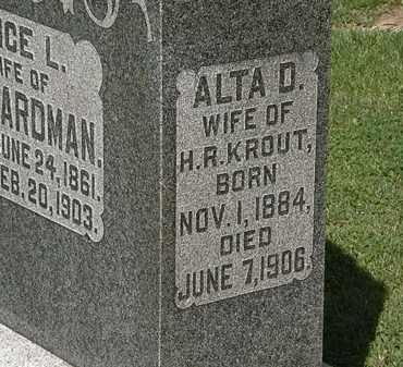 KROUT, ALTA D. - Morrow County, Ohio | ALTA D. KROUT - Ohio Gravestone Photos