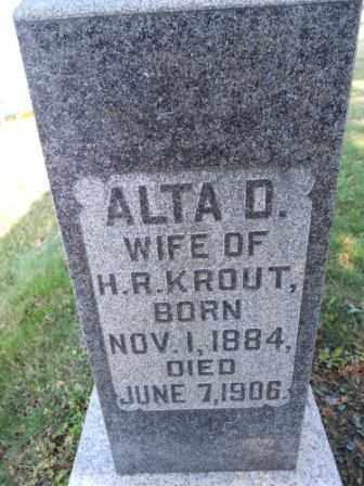 KROUT, ALTA D - Morrow County, Ohio | ALTA D KROUT - Ohio Gravestone Photos