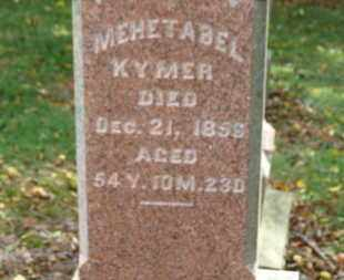 KYMER, MEHETABEL - Morrow County, Ohio | MEHETABEL KYMER - Ohio Gravestone Photos
