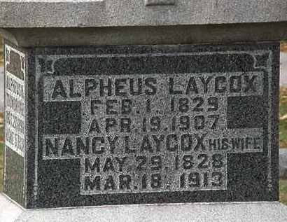 LAYCOX, NANCY - Morrow County, Ohio | NANCY LAYCOX - Ohio Gravestone Photos