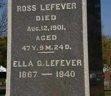 LEFEVER, ELLA G. - Morrow County, Ohio | ELLA G. LEFEVER - Ohio Gravestone Photos