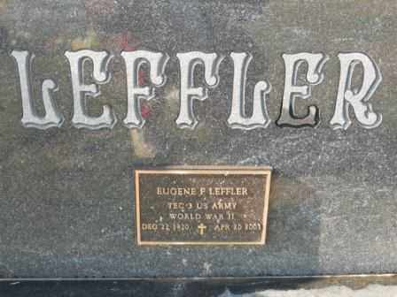 LEFFLER, EUGENE F - Morrow County, Ohio | EUGENE F LEFFLER - Ohio Gravestone Photos