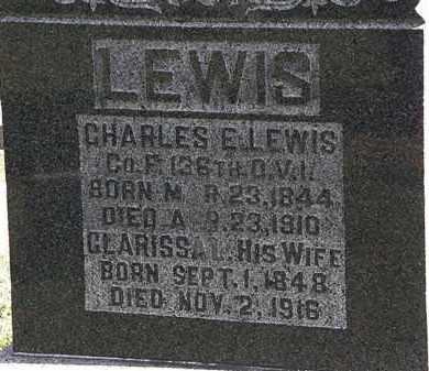 LEWIS, CHARLES E. - Morrow County, Ohio | CHARLES E. LEWIS - Ohio Gravestone Photos