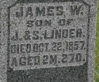 LINDER, JAMES W. - Morrow County, Ohio | JAMES W. LINDER - Ohio Gravestone Photos