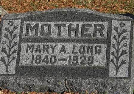 LONG, MARY A. - Morrow County, Ohio | MARY A. LONG - Ohio Gravestone Photos