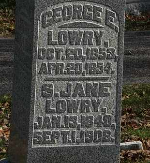 LOWRY, GEORGE E. - Morrow County, Ohio | GEORGE E. LOWRY - Ohio Gravestone Photos