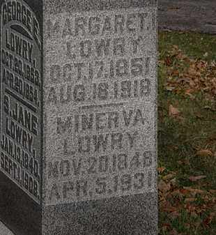 LOWRY, MARGARET - Morrow County, Ohio | MARGARET LOWRY - Ohio Gravestone Photos