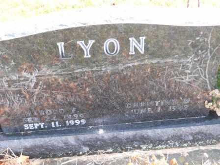 LYON, CHRISTINE W - Morrow County, Ohio | CHRISTINE W LYON - Ohio Gravestone Photos