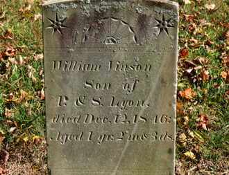 LYON, WILLIAM VINSON - Morrow County, Ohio | WILLIAM VINSON LYON - Ohio Gravestone Photos