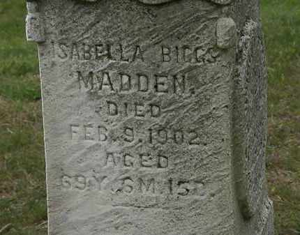 MADDEN, ISABELLA - Morrow County, Ohio | ISABELLA MADDEN - Ohio Gravestone Photos
