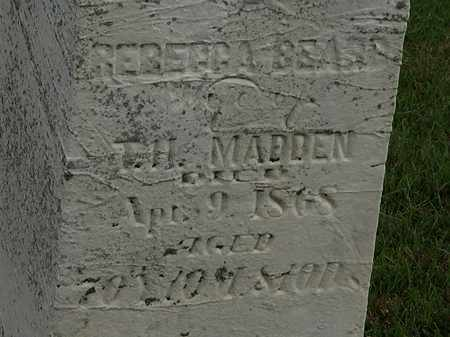 BEARD MADDEN, REBECCA - Morrow County, Ohio | REBECCA BEARD MADDEN - Ohio Gravestone Photos