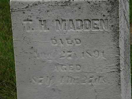MADDEN, T. H. - Morrow County, Ohio | T. H. MADDEN - Ohio Gravestone Photos