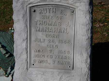MANAHAN, RUTH E. - Morrow County, Ohio | RUTH E. MANAHAN - Ohio Gravestone Photos