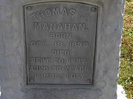 MANAHAN, THOMAS J. - Morrow County, Ohio | THOMAS J. MANAHAN - Ohio Gravestone Photos
