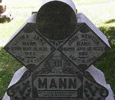 MANN, JOHN NEWTON - Morrow County, Ohio | JOHN NEWTON MANN - Ohio Gravestone Photos