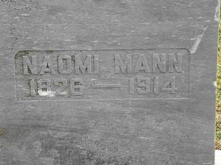 MANN, NAOMI - Morrow County, Ohio | NAOMI MANN - Ohio Gravestone Photos