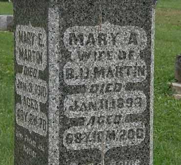 MARTIN, MARY A. - Morrow County, Ohio | MARY A. MARTIN - Ohio Gravestone Photos
