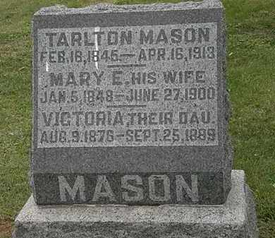 MASON, MARY E. - Morrow County, Ohio | MARY E. MASON - Ohio Gravestone Photos