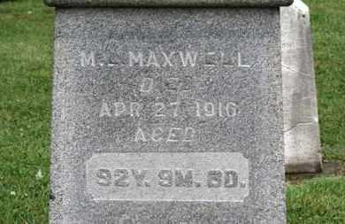MAXWELL, M.L. - Morrow County, Ohio | M.L. MAXWELL - Ohio Gravestone Photos