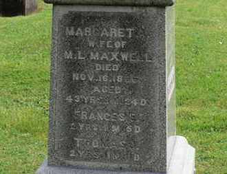 MAXWELL, MARGARET - Morrow County, Ohio | MARGARET MAXWELL - Ohio Gravestone Photos