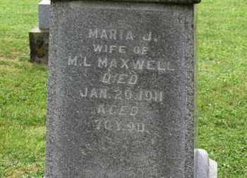 MAXWELL, MARIA J. - Morrow County, Ohio | MARIA J. MAXWELL - Ohio Gravestone Photos
