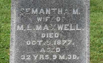 MAXWELL, SEMANTHA - Morrow County, Ohio | SEMANTHA MAXWELL - Ohio Gravestone Photos