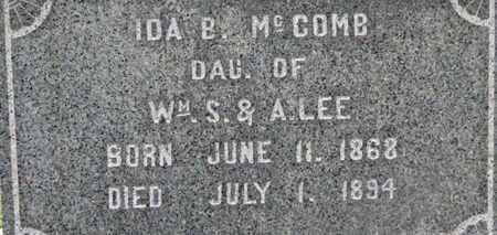 MCCOMB, IDA B. - Morrow County, Ohio | IDA B. MCCOMB - Ohio Gravestone Photos