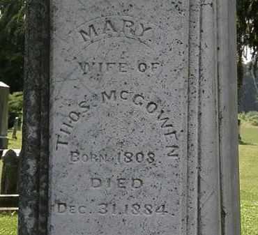 MCCOWEN, MARY - Morrow County, Ohio   MARY MCCOWEN - Ohio Gravestone Photos