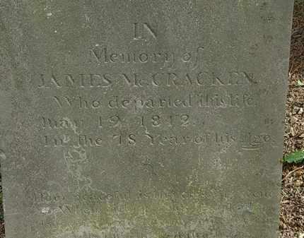 MCCRACKEN, JAMES - Morrow County, Ohio   JAMES MCCRACKEN - Ohio Gravestone Photos