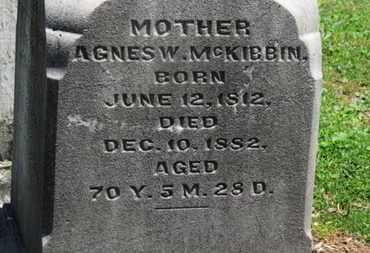 MCKIBBIN, AGNES W. - Morrow County, Ohio | AGNES W. MCKIBBIN - Ohio Gravestone Photos