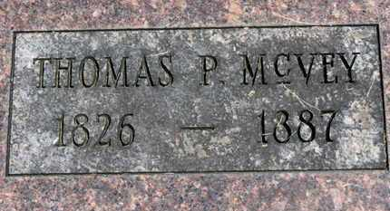 MCVEY, THOMAS P. - Morrow County, Ohio | THOMAS P. MCVEY - Ohio Gravestone Photos