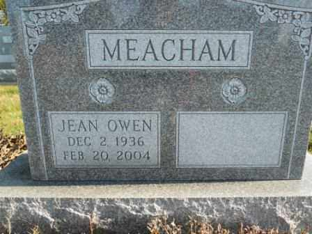MEACHAM, JEAN OWEN - Morrow County, Ohio | JEAN OWEN MEACHAM - Ohio Gravestone Photos