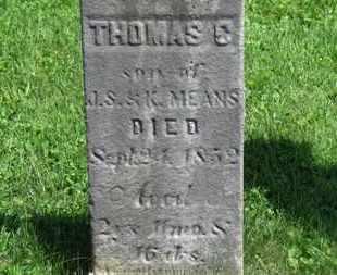 MEANS, THOMAS C. - Morrow County, Ohio | THOMAS C. MEANS - Ohio Gravestone Photos