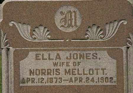 JONES MELLOTT, ELLA - Morrow County, Ohio | ELLA JONES MELLOTT - Ohio Gravestone Photos