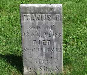 MENS, FRANCIS B. - Morrow County, Ohio | FRANCIS B. MENS - Ohio Gravestone Photos