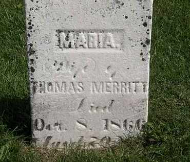 MERRITT, THOMAS - Morrow County, Ohio | THOMAS MERRITT - Ohio Gravestone Photos