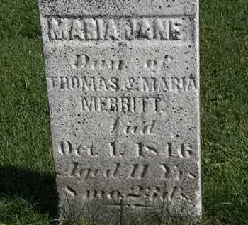 MERRITT, MARIA JANE - Morrow County, Ohio | MARIA JANE MERRITT - Ohio Gravestone Photos