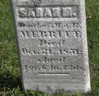 MERRITT, SARAH M. - Morrow County, Ohio | SARAH M. MERRITT - Ohio Gravestone Photos