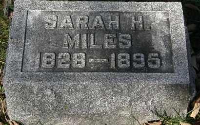 MILES, SARAH H. - Morrow County, Ohio | SARAH H. MILES - Ohio Gravestone Photos